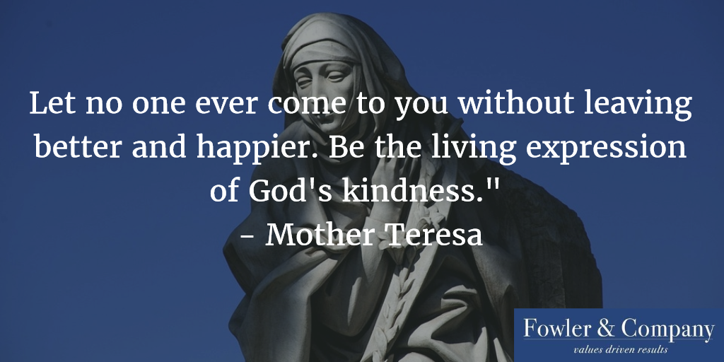 Mother Teresa Never Leave a Place